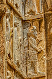 Persepolis royal tombs relief Stock Photography