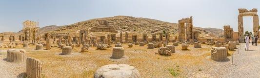 Persepolis ruiniert Panorama Stockbilder