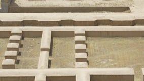Persepolis ruins aerial stock footage