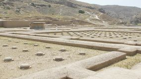 Persepolis ruins panorama stock video footage