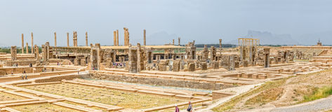Persepolis ruins panoramic Stock Photography