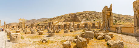 Persepolis ruins panoramic view Stock Image