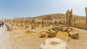 Persepolis ruins panoramic view Royalty Free Stock Photography