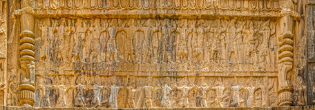 Persepolis tombs relief Stock Images