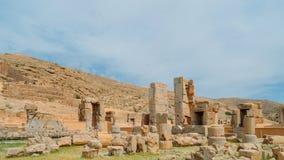 Persepolis var den ceremoniella huvudstaden av Achaemenidvälden ca 550 330 F. KR. placeras det 60 km nordost av staden av Shiraz Royaltyfri Bild