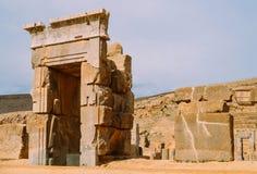 Persepolis var den ceremoniella huvudstaden av Achaemenidvälden ca 550 330 F. KR. placeras det 60 km nordost av staden av Shiraz Royaltyfri Foto