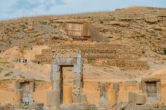 Persepolis var den ceremoniella huvudstaden av Achaemenidvälden ca 550 330 F. KR. placeras det 60 km nordost av staden av Shiraz Arkivfoton