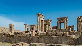 Persepolis var den ceremoniella huvudstaden av Achaemenidvälden ca 550 330 F. KR. placeras det 60 km nordost av staden av Shiraz Royaltyfria Foton