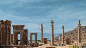 Persepolis war die zeremonielle Hauptstadt des Achaemenid-Reiches Ca 550 330 BC wird es 60 Kilometer nordöstlich der Stadt von Sh Stockfotos
