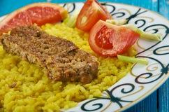 Perser Pan Kebab arkivbild