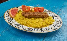 Perser Pan Kebab royaltyfri fotografi