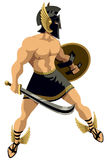 Perseus на белизне Стоковые Фотографии RF