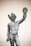 Perseus. Bronze statue of Perseus holding the head of Medusa Royalty Free Stock Photography