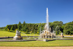 Perseus and Andromeda fountain, Witley Court, Worcestershire, England. The spectacular Perseus and Andromeda fountain at Witley Court, one of the finest and Stock Photo