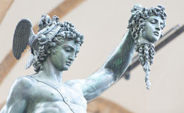 Perseus by Benvenuto Cellini. Florence, Italy Stock Photography