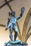 Perseus con el jefe de la medusa imagen de archivo libre de regalías