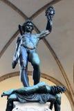 Perseus con la testa della medusa da Benvenuto Cellini a Firenze, Italia Immagine Stock