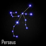 Perseus Constellation with Beautiful Bright Stars  Royalty Free Stock Images