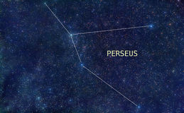 Perseus constellation stars Royalty Free Stock Images