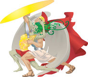 Perseus and the gorgon medusa Royalty Free Stock Photo
