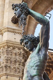Perseus with the Head of Medusa. Also known as Perseus by Cellini, is a bronze sculpture by Benvenuto Cellini, considered a masterpiece of Italian Mannerist Stock Photo