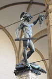 Perseus with the Head of Medusa. Ancient sculpture Perseus with the Head of Medusa in the Loggia dei Lanzi, in Florence, Italy Royalty Free Stock Photo