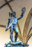 Perseus with the Head of Medusa. Is a bronze sculpture made by Benvenuto Cellini in 1545. The subject matter of the work is the mythological story of Perseus Royalty Free Stock Image
