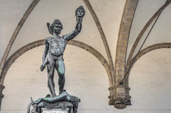 Perseus with the Head of Medusa in Florence, Italy Stock Images