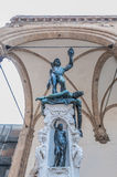 Perseus with the Head of Medusa in Florence, Italy. Benvenuto Cellini's 1545 bronze sculpture of Perseus with the Head of Medusa At Piazza della Signoria royalty free stock photography