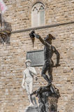 Perseus with the Head of Medusa in Florence, Italy Stock Photo