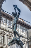 Perseus with the Head of Medusa in Florence, Italy Royalty Free Stock Photography