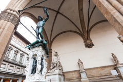 Perseus with the Head of Medusa in Florence Royalty Free Stock Image