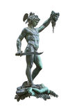 Perseus holding head of Medusa. Bronze statue created  by Benvenuto Cellini in 1554 and exposed nowadays in Loggia de Lanzi, Piazza della Signoria, Florence Royalty Free Stock Image