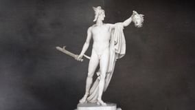 Perseus Holding the Head of Medusa stock video footage