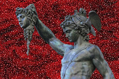 Perseus holding the head of Medusa Royalty Free Stock Photos