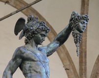 Perseus holding the head of Medusa, Florence, Italy Royalty Free Stock Photography