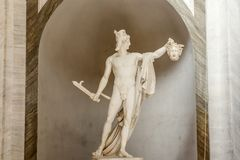Perseus holding the head of medusa, Italy stock photos