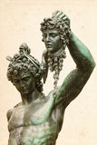 Perseus with the Medusa Gorgon. Bronze statue of Perseus with the head of Medusa (1545-1554), by Benvenuto Cellini, in Loggia de' Lanzi, Piazza della Signoria Royalty Free Stock Photography