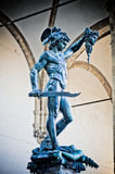 Perseus with the Medusa. Perseus statue with the head of Medusa , in Loggia de` Lanzi, Piazza della Signoria, Florence. Sculptor Benvenuto Cellini 1545-1554 Royalty Free Stock Image