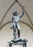 Perseus met het Hoofd van Kwal Royalty-vrije Stock Afbeeldingen