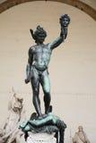 Perseus met het hoofd van kwal, Florence, Italië stock afbeelding