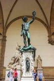 Perseus mit dem Kopf der Medusa Lizenzfreie Stockfotos