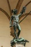 Perseus mit dem Kopf der Medusa, Florenz, Italien lizenzfreie stockfotografie