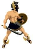 Perseus no branco Fotos de Stock Royalty Free