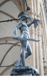 Perseus slaying medusa Royalty Free Stock Photos