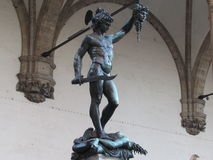 Perseus. Statue of Perseus with the Head of Medusa Stock Photo