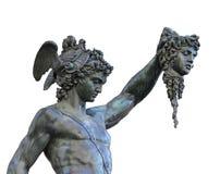 Perseus trzyma głowę meduza, Florencja, Włochy Obraz Royalty Free