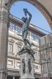 Perseus z Głową Meduza w Florencja, Włochy fotografia stock