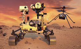 Free Perseverance - A Planetary Rover Of The NASA Mars 2020 Mission And Mars Helicopter, Ingenuity, The Purpose Of Which Is To Explore Royalty Free Stock Photography - 211311347