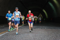 The perseverance of the marathon athlete Royalty Free Stock Photography
